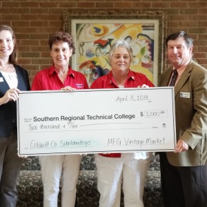 Photo for Moultrie Federated Guild Presents Check to SRTC for  Colquitt County Student Scholarships