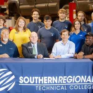 Photo for  Ford Motor Company, Southern Regional Technical College, and Robert Hutson Sign Partnership.