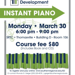Photo for SRTC Thomasville to host Instant Piano course