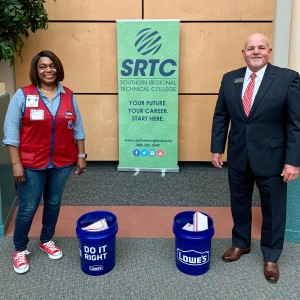 Photo for Tifton Lowe\'s donates PPE to SRTC