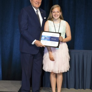 G.E.A.R. Fifth Grader, Malerie Land,  Wins Third Place in 2018 Student Design Contest
