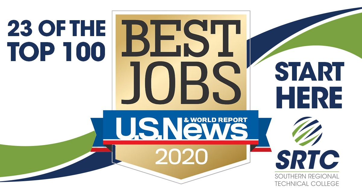 banner announcing best 100 jobs