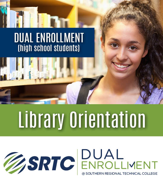 Dual Enrollment Library Orientation (photo of female student)