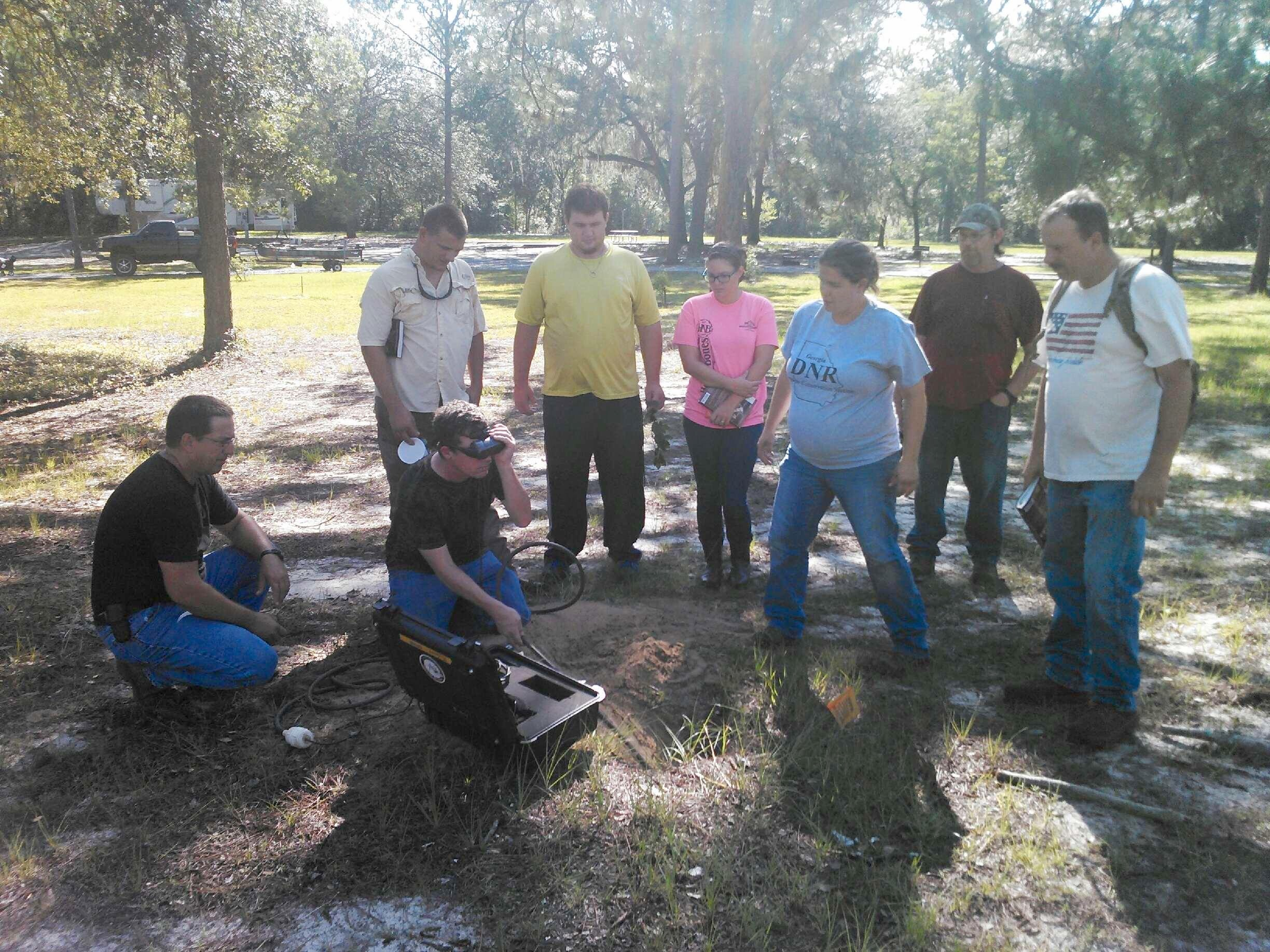 Fish & Wildlife Management Students at Reed Bingham State Park